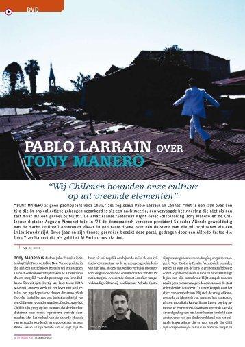 [PDF] Pablo Larrain over Tony Manero - Filmmagie