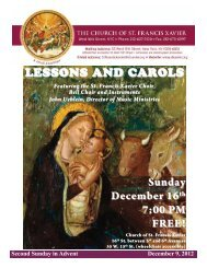 LESSONS AND CAROLS Sunday December 16th 7:00 PM FREE!