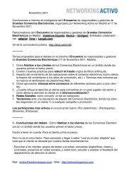 Conclusiones I Encuentro Grandes Comercios ... - Networking Activo