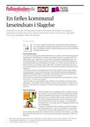 En fælles kommunal læseindsats i Slagelse - Viden om Læsning