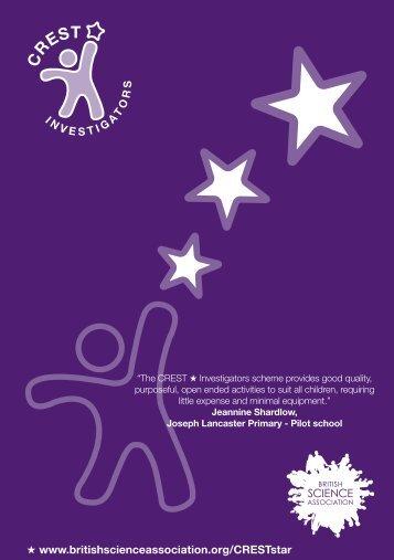 CREST Star Investigators leaflet - Intech
