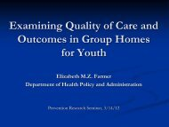 What Affects Outcomes in Group Homes for Youth - Prevention ...