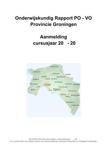 Onderwijskundig Rapport PO - VO Provincie ... - Dollard College