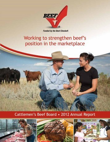 2012 Beef Board Annual Report - Cattlemen's Beef Promotion and ...