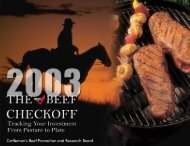 2003 (PDF) - Cattlemen's Beef Promotion and Research Board