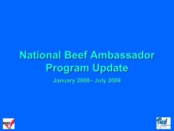 National Beef Ambassador - Cattlemen's Beef Promotion and ...