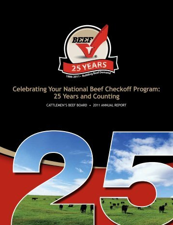 2011 Beef Board Annual Report - Cattlemen's Beef Promotion and ...