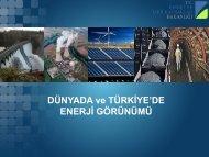 Dünyada ve Türkiye'de Enerji Görünümü