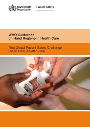 WHO Guidelines on Hand Hygiene in Health Care - Extranet ...