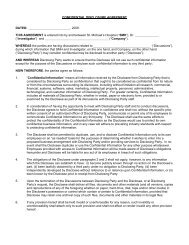 Confidential disclosure agreement mutual - St. Michael's Hospital