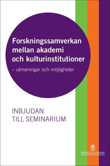 Forskningssamverkan mellan akademi och kulturinstitutioner