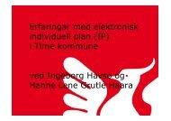 Erfaringer med Elektronisk Individuell Plan, Time ... - Helse Bergen