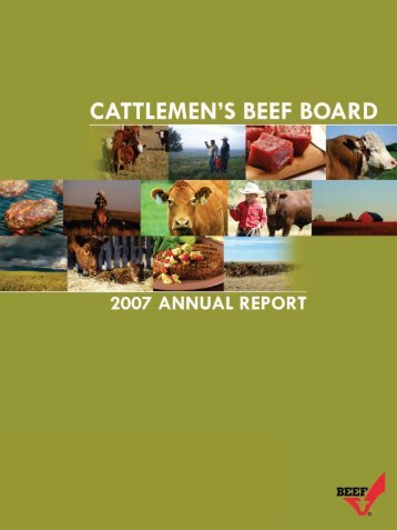 2007 Beef Board Annual Report - Cattlemen's Beef Promotion and ...