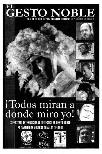 El Gesto. - Casa del Teatro de Medellín