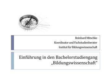 Universität Heidelberg Institut für Bildungswissenschaft ...