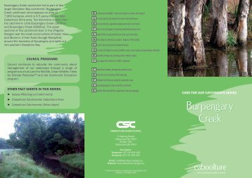Burpengary Creek Brochure - Moreton Bay Regional Council