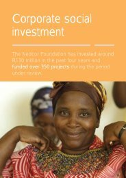 Corporate social investment - Nedbank Group Limited