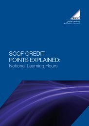 SCQF Credit Points Explained - Scottish Credit and Qualifications ...