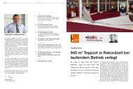 940 m2 Teppich in Rekordzeit bei laufendem ... - Pci-Augsburg Gmbh