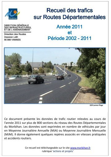 Recueil des trafics 2002-2011 - Conseil général du Morbihan