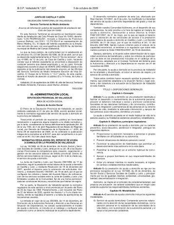 Normativa reguladora SAD - Diputación de Valladolid