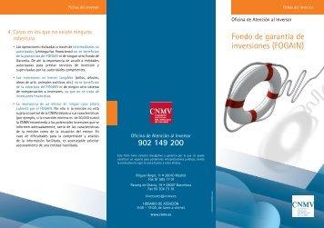 Fondo de garantía de inversiones - Comisión Nacional del Mercado ...