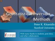 Keynote address: Geostatistical Inversion Methods - Rs-pore2field ...