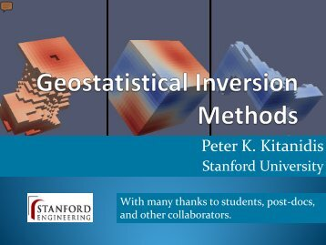 Keynote address: Geostatistical Inversion Methods - Rs-pore2field ...