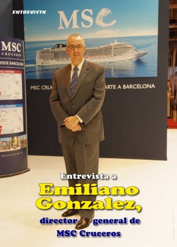 Emiliano Gonzalez, director general de MSC Cruceros - TAT Revista