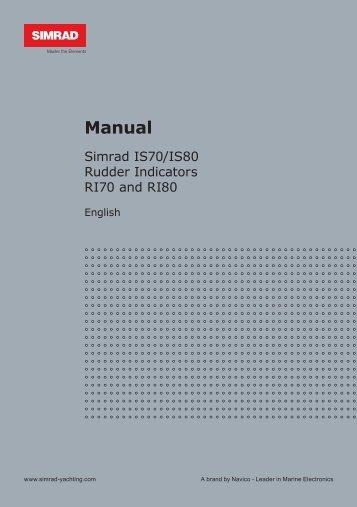 Simrad IS70 Rudder Angle Manual - Simrad Professional Series ...