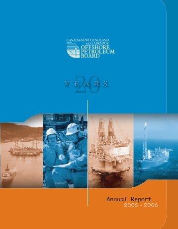 cnlopb 2006 - Canada-Newfoundland Offshore Petroleum Board