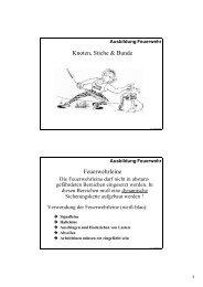 Knoten und Stiche - Feuerwehr Windeck