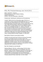 POL-FB: Pressemitteilung vom 16.03.2012: - Firmendb
