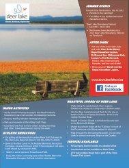 Summer Activity Guide - Town of Deer Lake