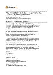 POL-MFR: (1217) Diebstahl von Sonnenbrillen ... - Firmendb