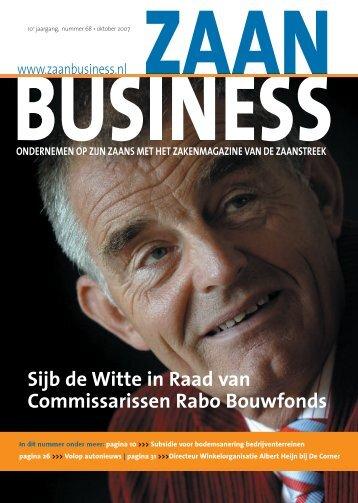 Sijb de Witte in Raad van Commissarissen Rabo ... - Zaanbusiness