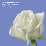 Your guide to funeral care - The Co-operative