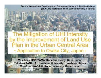 The Mitigation of UHI Intensity by the Improvement of Land Use Plan ...