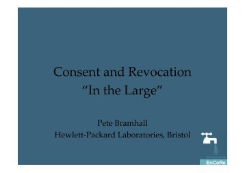 Pete Bramhall - Consent & Revocation In The Large - PrivacyOS