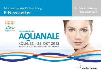 Mediadaten Besucher-Newsletter (pdf) - aquanale