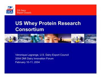 US Whey Protein Research Consortium - InnovateWithDairy.com