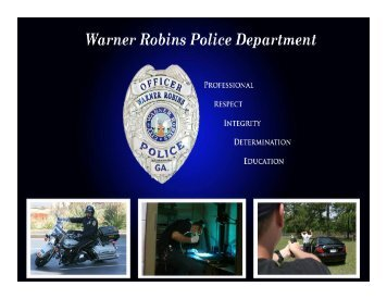 W.R.P.D. History - Warner Robins Police Department