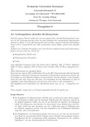 Technische Universität Dortmund ¨Ubungsblatt 8 A1  - Lehrstuhl 6
