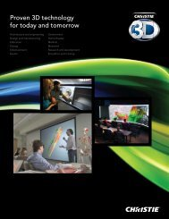 Proven 3D technology for today and tomorrow - Christie Digital ...