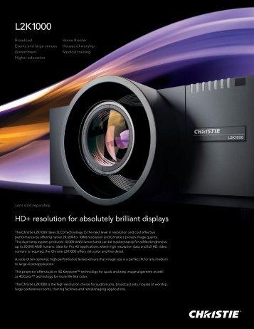 L2K1000 - Christie Digital Systems