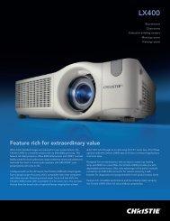 Christie LX400 Brochure - CEV
