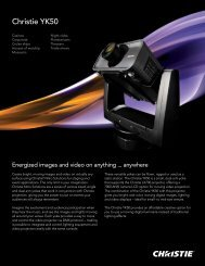 Christie YK50 Datasheet - Christie Digital Systems
