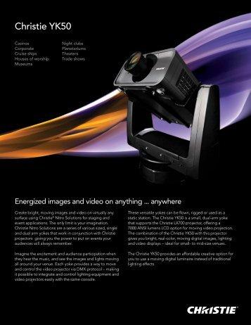 Christie YK50 Datasheet - Christie Digital Systems