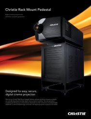 Christie Rack Mount Pedestal - Christie Digital Systems