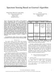 Spectrum Sensing Based on Goertzel Algorithm - M. Javad Omidi